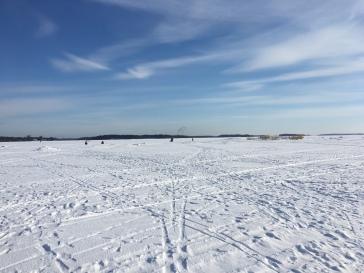 Panorama beim Spaziergang auf dem Meer